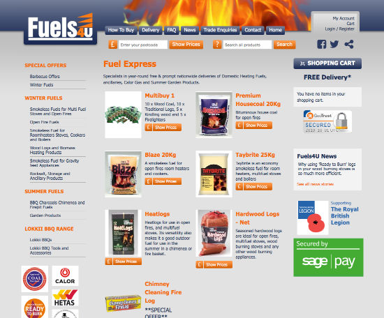 Old Fuels4U website homepage