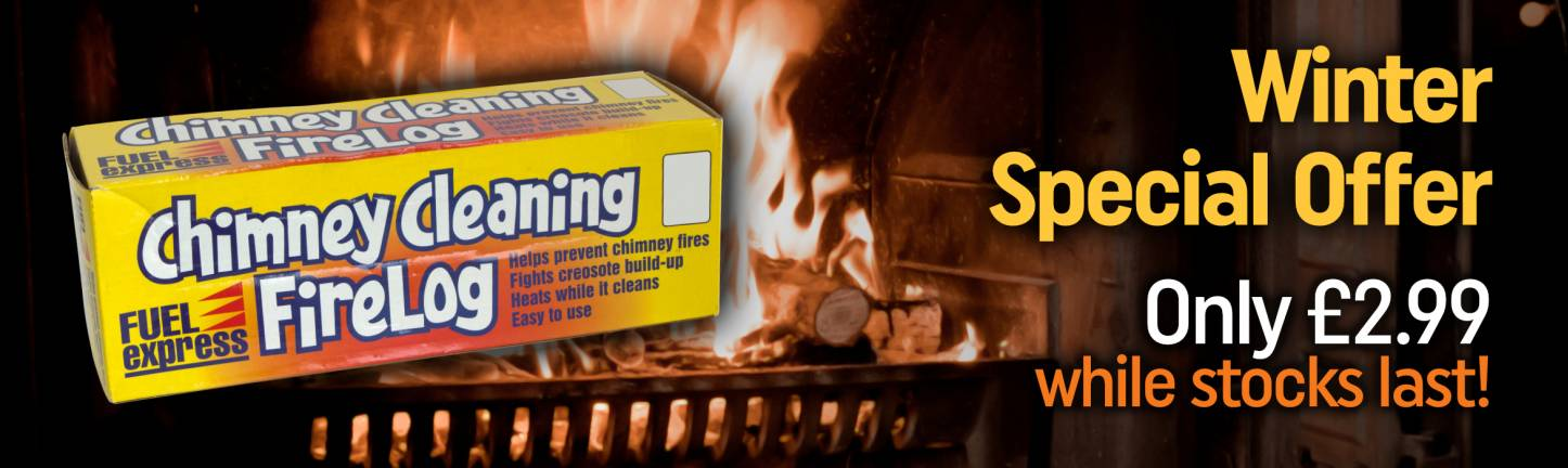 Chimney cleaning firelog special offer